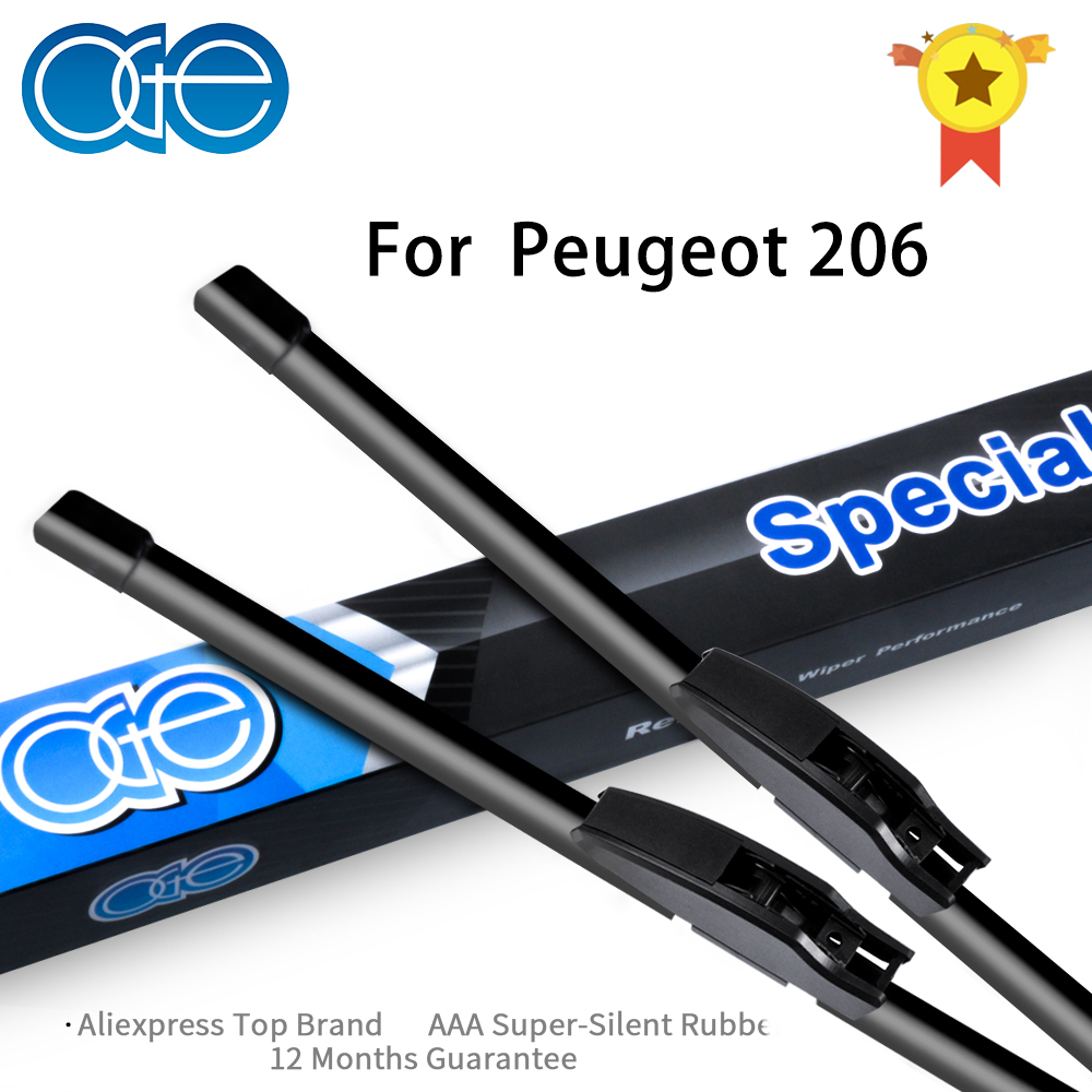 Oge Wiper Blades For Peugeot 206 2000 2001 2002 2003 2004 2005 2006 High-Quality Rubber Windscreen Car Accessories