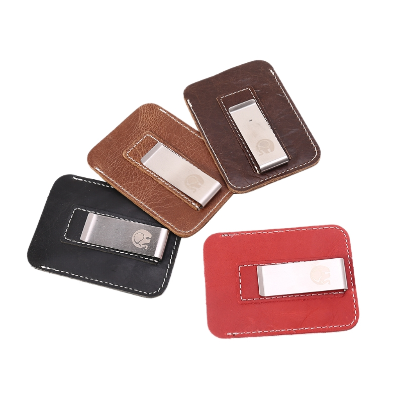1 Pc Retro Portemonnee Slim Geld Clip Business Leather Wallet Credit Card Holder Case Firm In Structuur