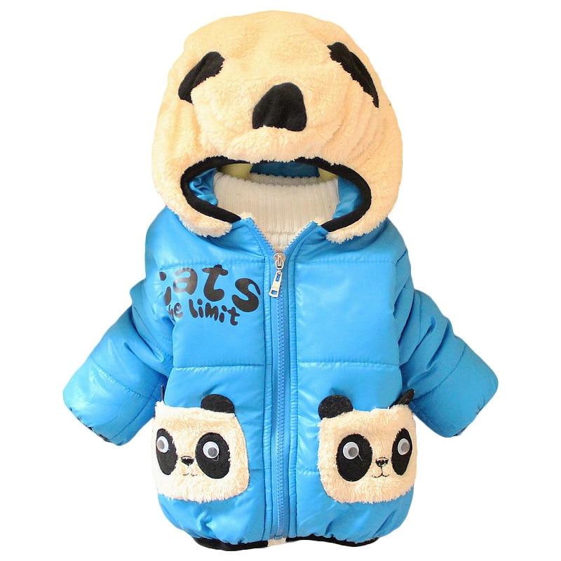 Bebek Karikatür Ayı Kız Erkek Ceketler Mont Parka Kış Coat Çocuk Giyim Çocuk Kalın Hoodies Ceket Giyim Q2037