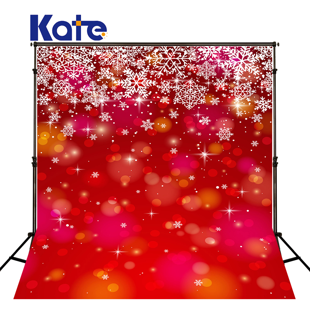 Kate Red Photography Backdrops Christmas Snowflake Background Fantasy Children Cotton Washable Customized Photo Backdrop retro background christmas photo props photography screen backdrops for children vinyl 7x5ft or 5x3ft christmas033