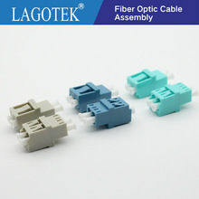 50PCS LC UPC Duplex  Fiber optic Adapter High low type  LC Optical fiber coupler LC UPC Fiber flange SC connector Free shipping