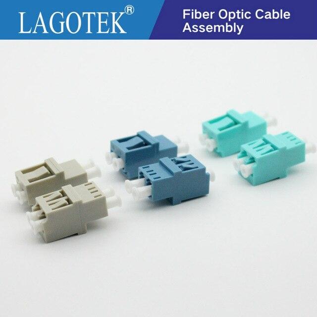 50PCS LC UPC Duplex  Fiber optic Adapter High low type  LC Optical fiber coupler LC UPC Fiber flange SC connector Free shipping