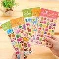 1 hoja Fruta animal de Juguete pegatinas Scrapbooking Lindo Diario de Mercado Dibujo Transparente Calendario Álbum Deco Sticker