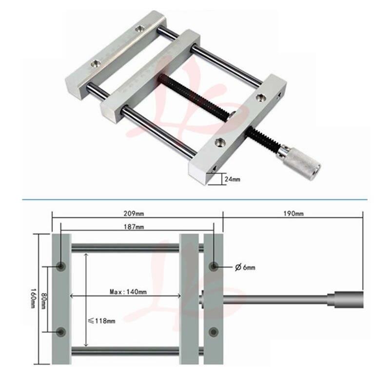 Pince plate Manumotive 140mm vis précision parallèle-étau à mâchoires étau simple QGG pour Machine à CNC