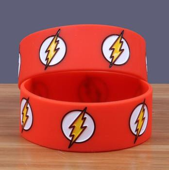 New 100pcs  Popular flash Wristband Silicone Promotion Gift Filled In Color Bracelet Free Shipping  T-304
