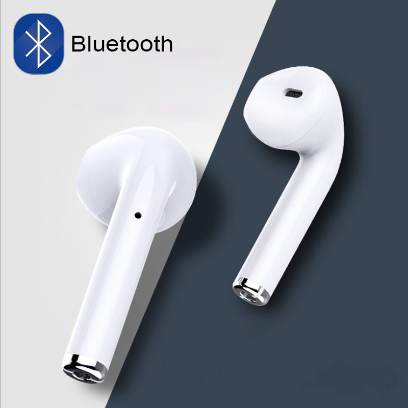I7 I7s Tws In-ear Wireless Bluetooth Earphone Earbuds Headset Earphones With Mic For IPhone Xiaomi Huawei Phones With Usb Cables