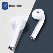 купить I7 i7s tws in-ear wireless Bluetooth Earphone Earbuds Headset earphones With Mic For iPhone xiaomi huawei phones with usb cables онлайн