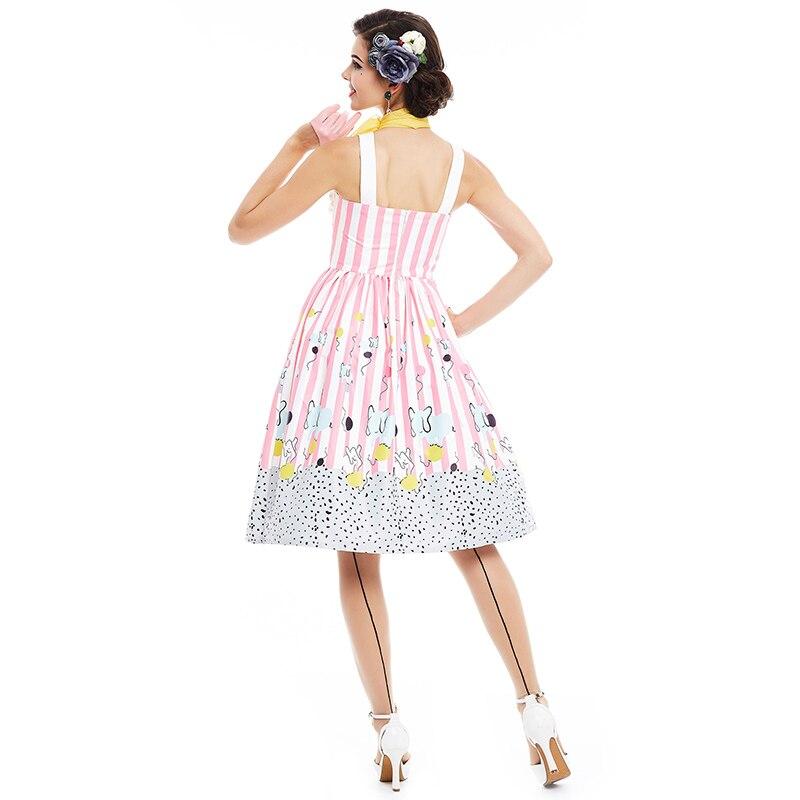 de9d9139f5c Sisjuly frauen vintage kleid sommer rosa sleeveless streifen kleid 1950 s  nette verspielt eine linie elegante vintage kleider in Sisjuly frauen  vintage ...