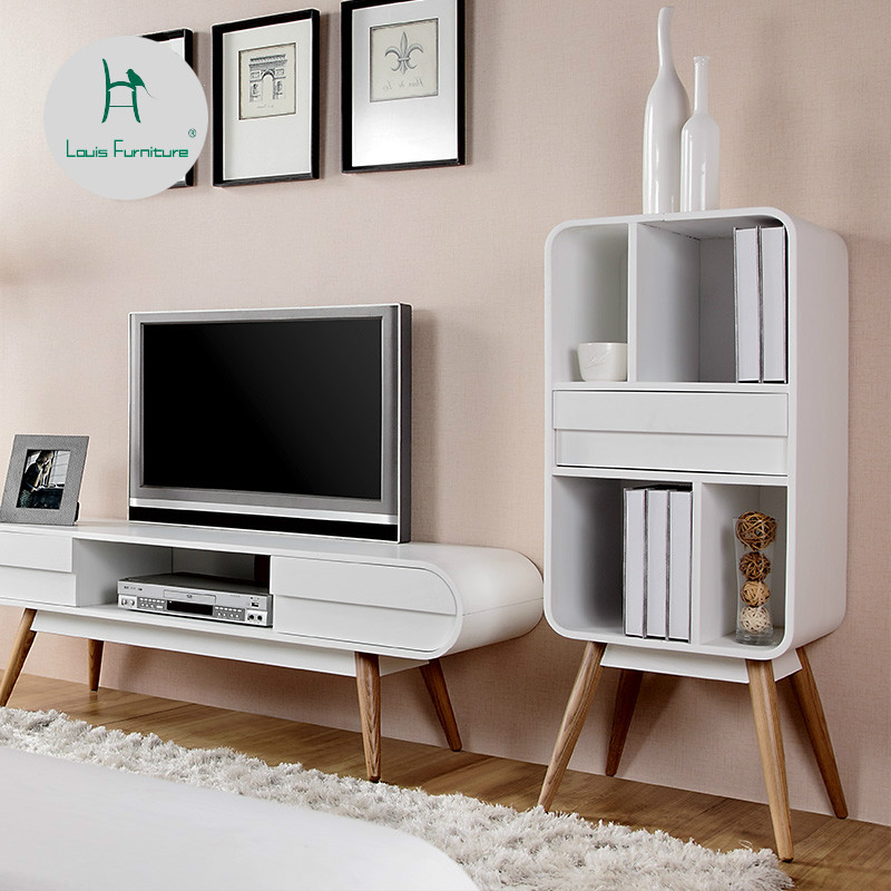 US $290.9 |Louis Fashion Bookcases Nordic Simple Wooden Modern Minimalist  Locker Living Room Low Cabinet-in Bookcases from Furniture on  Aliexpress.com ...
