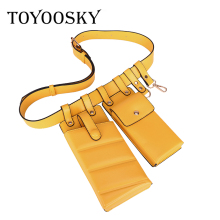 TOYOOSKY Fashion New Women Waist Pack Femal Belt Bag Phone Pouch Bags Brand Design for Ladies Girls Fanny Bolosa