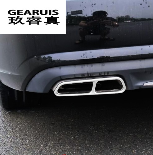 Car styling Rline Tail Throat Exhaust Pipe For Audi A6 C7 2016-2017 tail pipe Car exhaust pipe cover muffler tip accessories инвертор airline 12в 220в 400 вт
