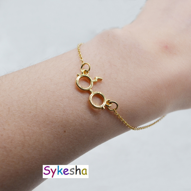 Sykesha 2018 Fashion New Lightning Glasses Charm Bracelet Minimalism
