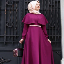 Muslim Abaya Dress Women Fashion Islamic Arabic Long Hijab Dress Black Simple Clothing Traditional Abaya Muslim 7 Colors