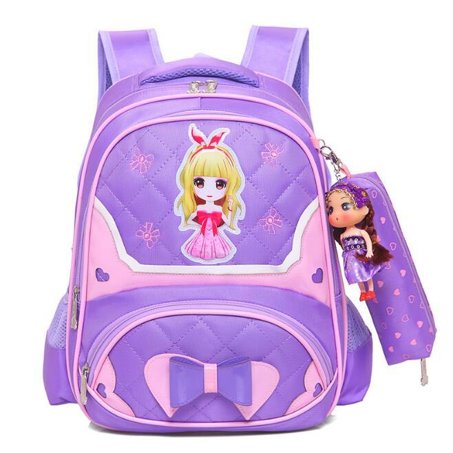 New Girl 3D childrens princess satchel girls school bag Kids Carton backpack Orthopedic Schoolbags mochila escolar