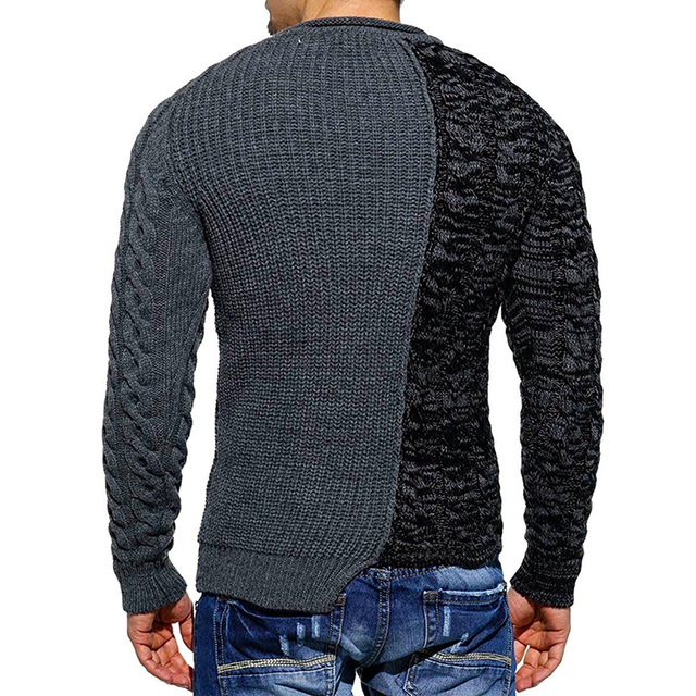 GustOmerD 2018 New Sweater Jumper Men Long Sleeve O-Neck Knitted Men Sweaters Pullover Hip Hop Patchwork Sweaters Mens
