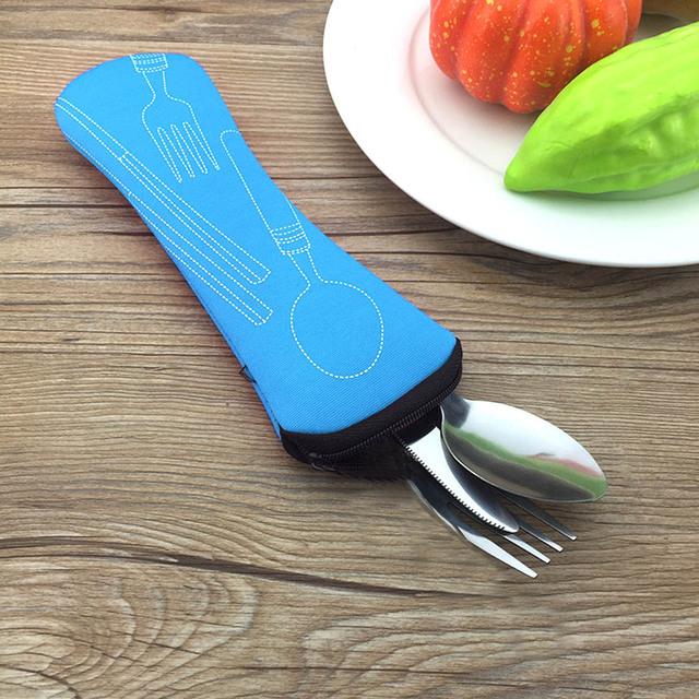 Portable Stainless Steel Tableware Set