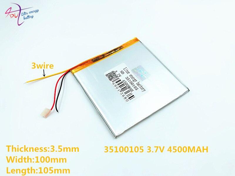 Li-ion Batterie Für Tablet Pc 7 Zoll 8 Zoll 9 Zoll Taille Und Sehnen StäRken polymer Lithium-ionen Batterie 4500 Mah 35100105 35100110 Der GüNstigste Preis 3 Linie 3,7 V