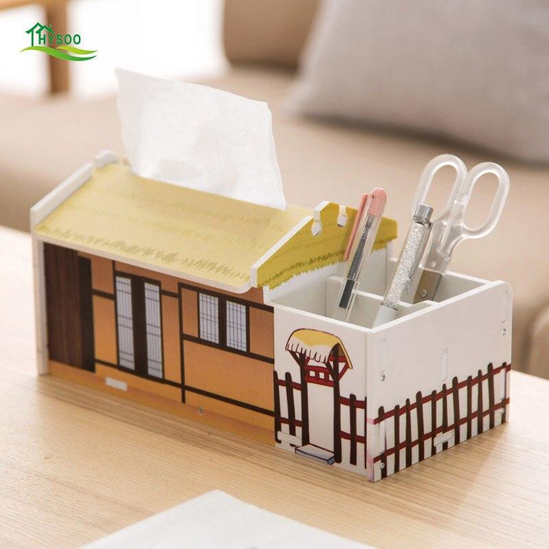 Desktop remote control storage box desk large tissue box office sub-stationery stationery storage box