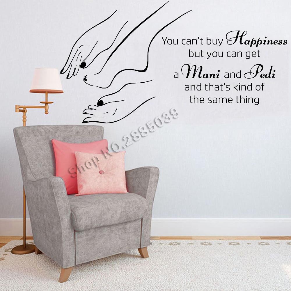 Nail Art Quote: Manicure Pedicure Beauty Salon Wall Stickers Shopwindow