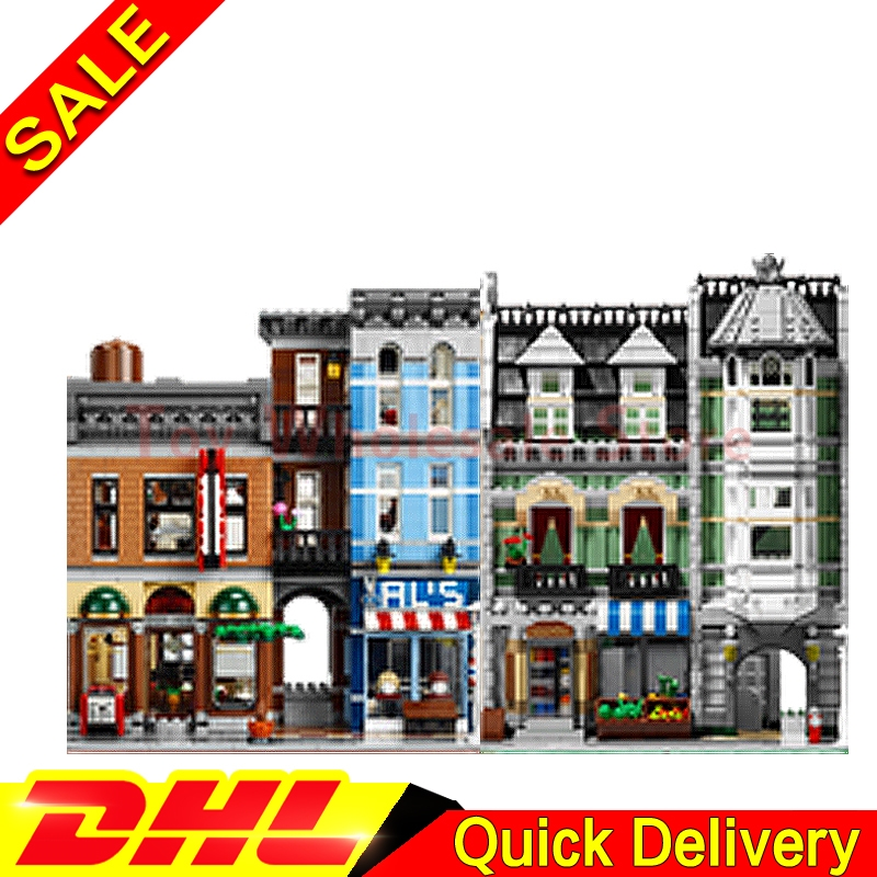 Lepin 15008 Green Grocer + Lepin 15011 The Detective's Office Model Building Street Sight Blocks Bricks lepins Toy 10185 10197 lepin 15008 2462pcs city street green grocer legoingly model sets 10185 building nano blocks bricks toys for kids boys