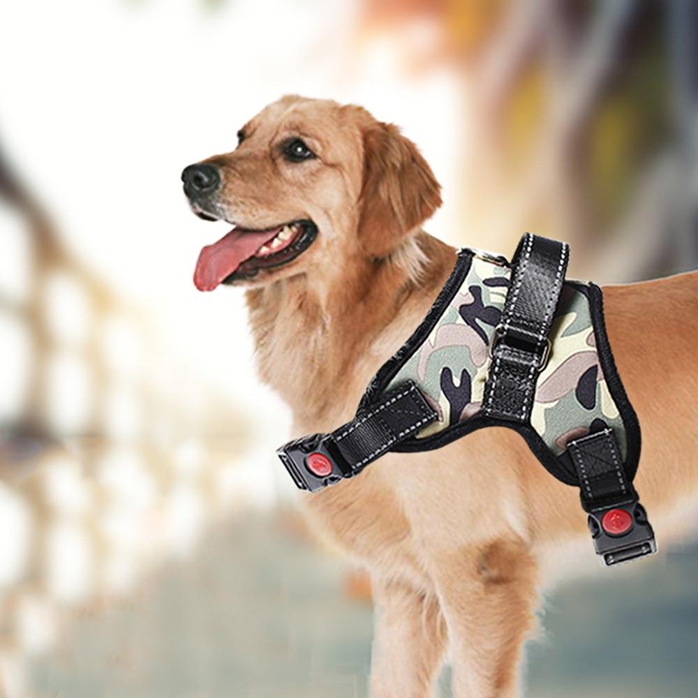 Gewijd Pet Dog Geen Pull Mesh Harnas Zachte Ademend Pet Walking Vest Lopen Hand Band Kraag Gemakkelijk Controle Harness Veiligheid Verstelbare Genezen Van Hoest En Het Verlichten Van Slijm En Verlichten Heesheid