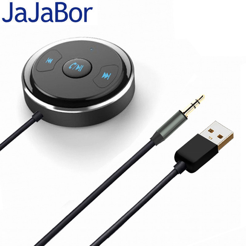 JaJaBor Bluetooth Car Kit Handsfree Calling CSR4.1 Noise Reduction Stereo AUX Interface Mobile Music Receiver USB Power