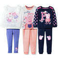 2-5Y girls jacket children outwear girls coats cartoon pig spring/autumn long sleeve hoodie+ pants  for girls clothes set