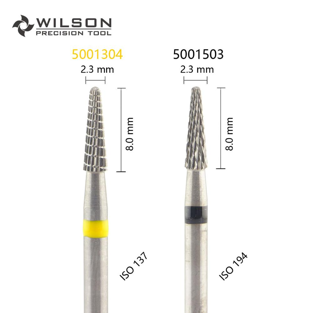 Conical Shape ISO 198 023 - Other Cut - HP WILSON Tungsten Carbide Dental Lab Burs 5001304 5001503