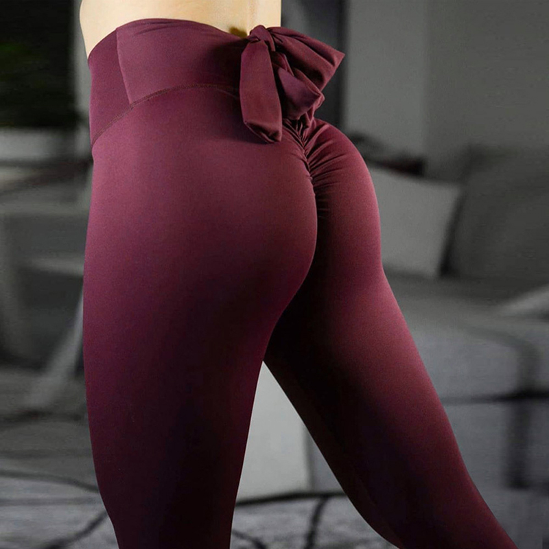 Five Colors Fashion Slim Leggings For Women High Waist Sexy Hips Jeggings Stretch Fitness Pants Bow-Knot Leggins Women Leggings