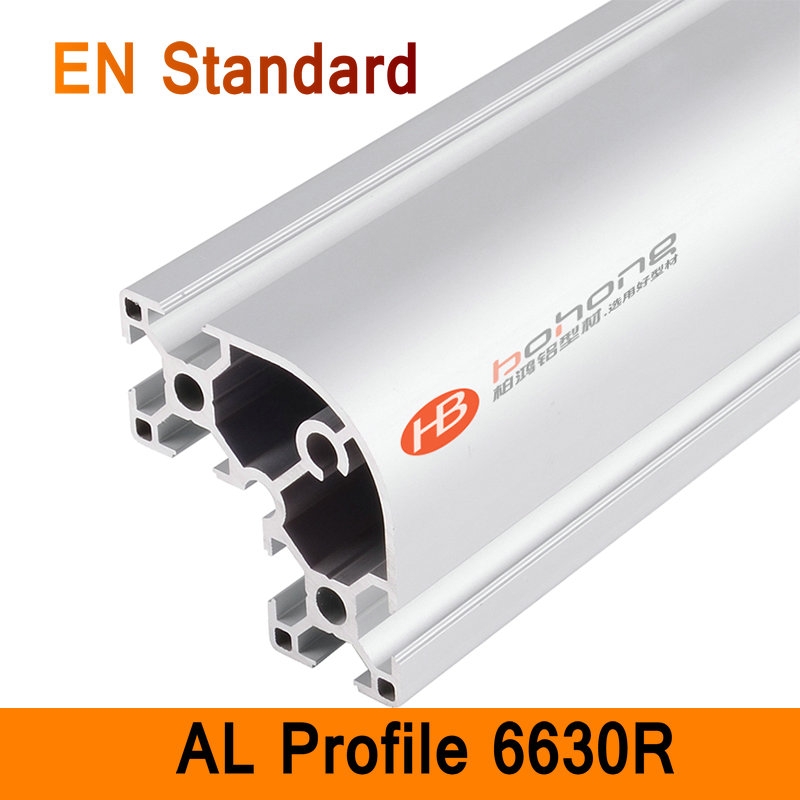 6630R Aluminium Profile EN Standard DIY Brackets Aluminium AL Extrusion CNC 3D DIY Printer Parts Aluminum Round Pipe T Slot