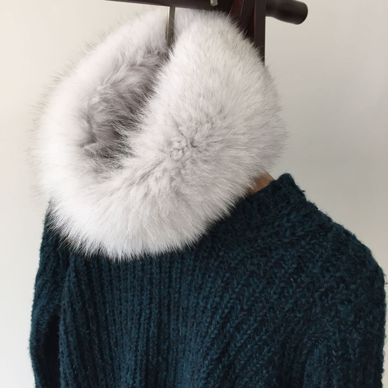 The New Lady Fur Scarf, Fox Fur The Necklet Warm Collar
