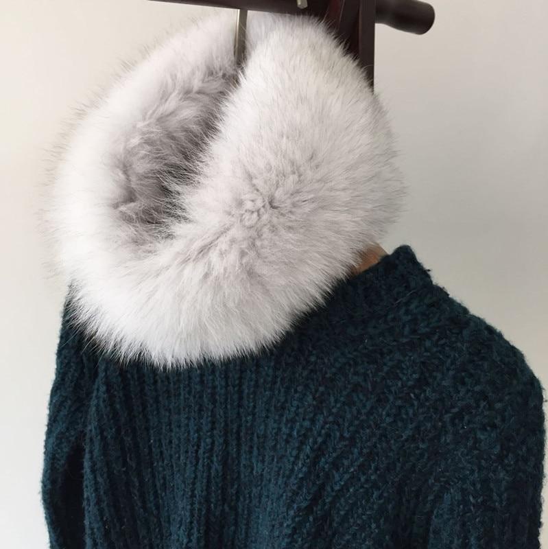 Noua eșarfă de blană de damă, blană de vulpe gulerul guler - Accesorii pentru haine