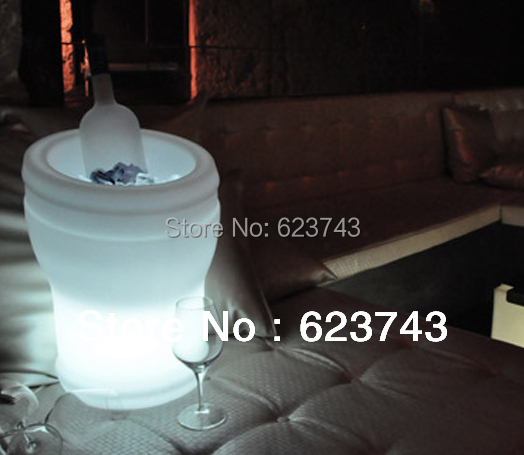 Glowing night club furniture! Magic barware! Remote controll color changing led ice bucket beer bucket SL-LBBC02