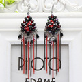Trendy Handmade Tassels Earrings Ladies Colorful Beaded Crystal Drop Earring Women Gypsy Bride Festival Ethnic Jewelry GIft
