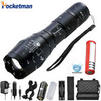 9000LM XM-L T6 L2 lampe de poche LED rechargeable torche Linternas Zoomable lampe étanche par 1*18650 ou 3 * AAA main lumière