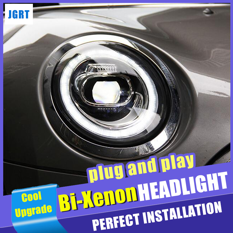 New Dynamic Turn Signal Head Light Car Styling For BMW MINI F56 Headlights 2014 2018 For