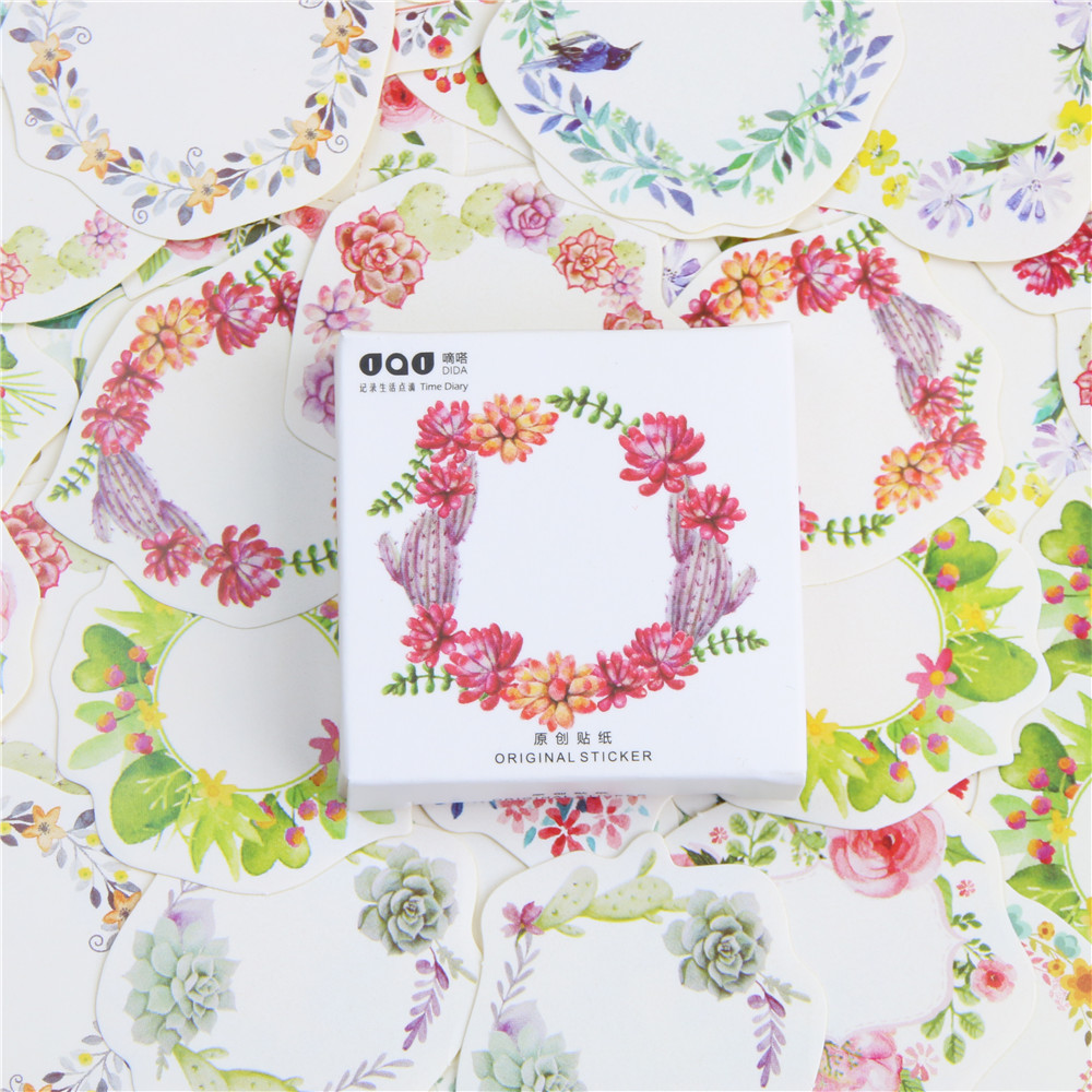 45 Pcs/lot Mini Wreath Paper Sticker Decoration DIY Ablum Diary Scrapbooking Label Sticker Kawaii Stationery gender power and social class