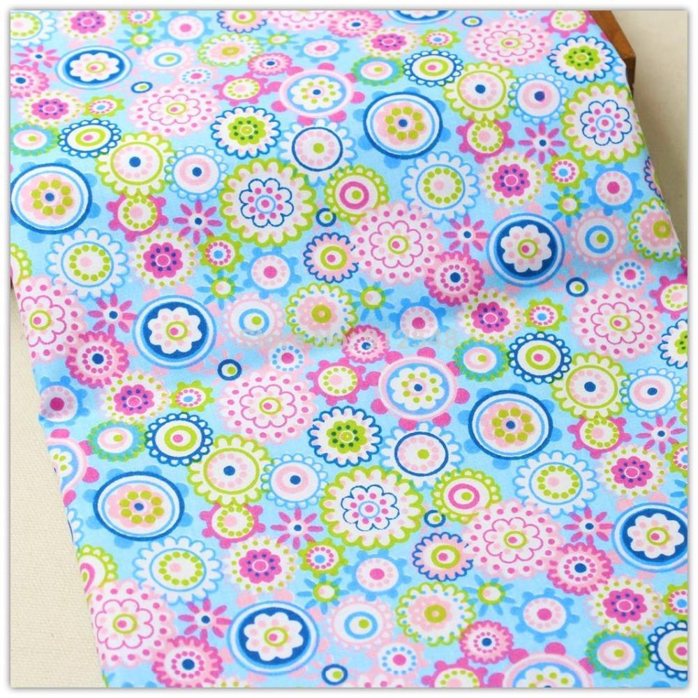 1541881, 50 cm   150 cm fleurs Série coton tissu, diy main patchwork coton  tissu textile de maison Livraison gratuite d7f32081034