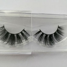 100% Siberian Mink Fur 3D False Eyelashes Handmade Messy Cross mink lashes extension AH20