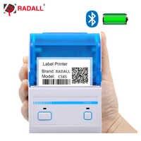 RD-C58S 58mm Thermische Label Drucker unterstützung Android/IOS system USB/Bluetooth Drucker mini tasche drucker bar code maker