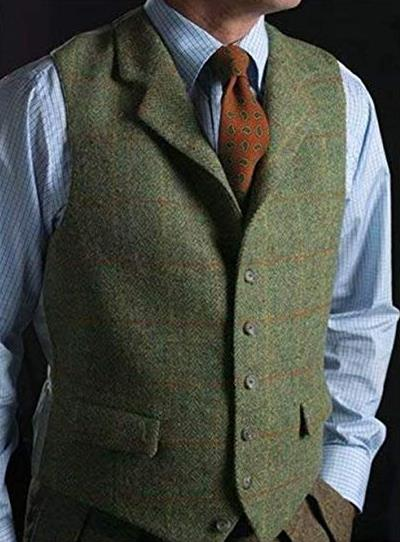2018 Latest Plaid Custom Make Man's Vest Wedding Groom Wear Formal Tuxedo Latest Design Vest 2018 Unique Fashion Men Vest Only