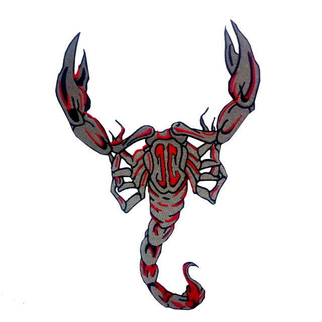 iron scorpion tattoo muay thai a home he logo patch of heavy metal rh aliexpress com Heavy Metal Band Logos Wedding Band Tattoos