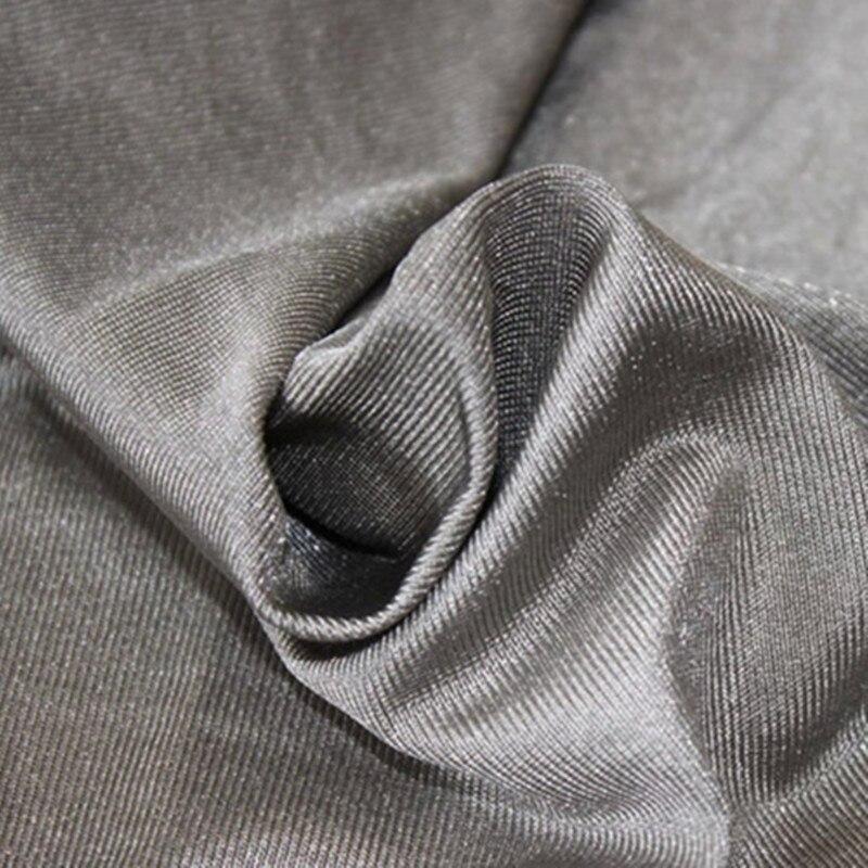 Tissu de fibers d'argent à la terre 100% matériau de protection contre les rayonnements tissu conducteur d'argent extensible
