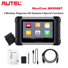 цена Autel MaxiCOM MK808BT OBD2 Scanner Car Diagnostic Tool  Diagnosis Functions of EPB/IMMO/DPF/SAS/TMPS better than launch x431 в интернет-магазинах