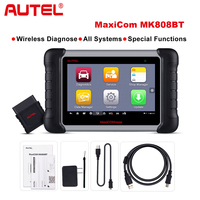 Autel MaxiCOM MK808BT OBD2 Scanner Car Diagnostic Tool Diagnosis Functions of EPB/IMMO/DPF/SAS/TMPS better than launch x431