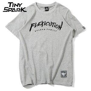 Image 4 - 2020 Men T Shirt Hip Hop Flexicution Logic Rapper Hiphop T Shirts Embroidery Harajuku Tshirt Cotton Tops Tees Streetwear Summer