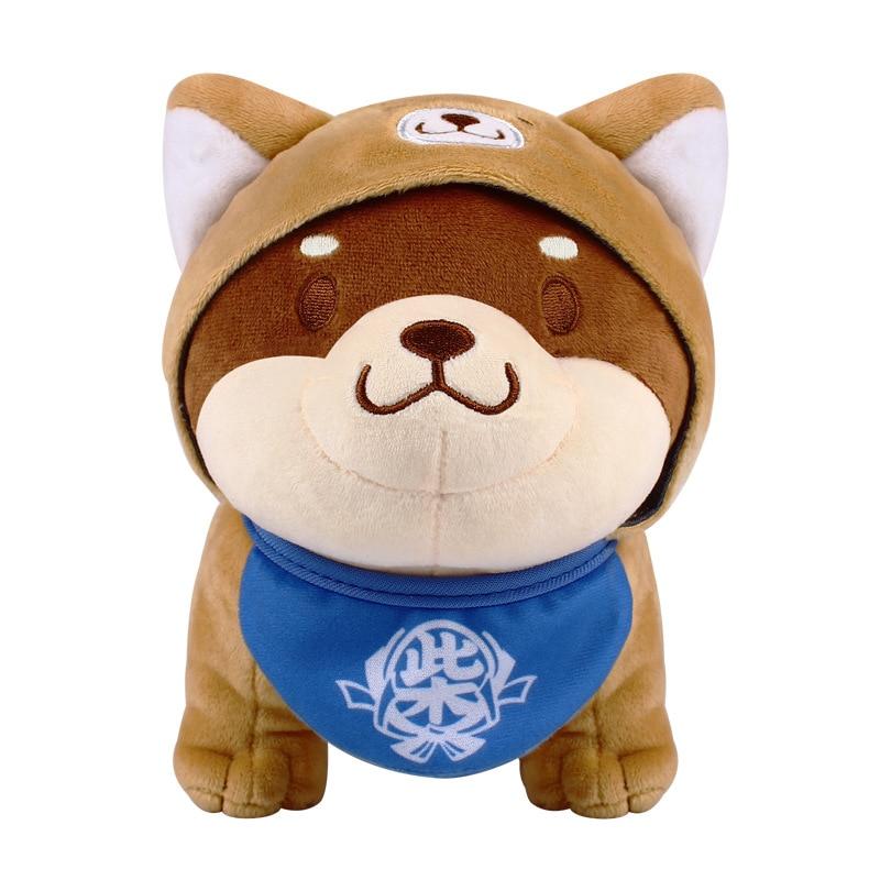 1 Stücke Nette Shiba Inu Hund Plüsch Spielzeug Mit Hut Weiche Tiere Ausgestopften Hund Puppe Spielzeug Für Kinder Geburtstag Weihnachten Geschenk