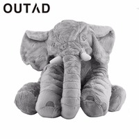 OUTAD Flannel Cotton Children Kids Elephant Pillow Doll Toys Sleep Bed Car Seat Cushion Bedroom Home