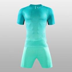 High Quality Child Kids Football Kit 2017 Soccer Jersey Kids Sets Suit Team Custom Tram Training Football Shirts Jersey