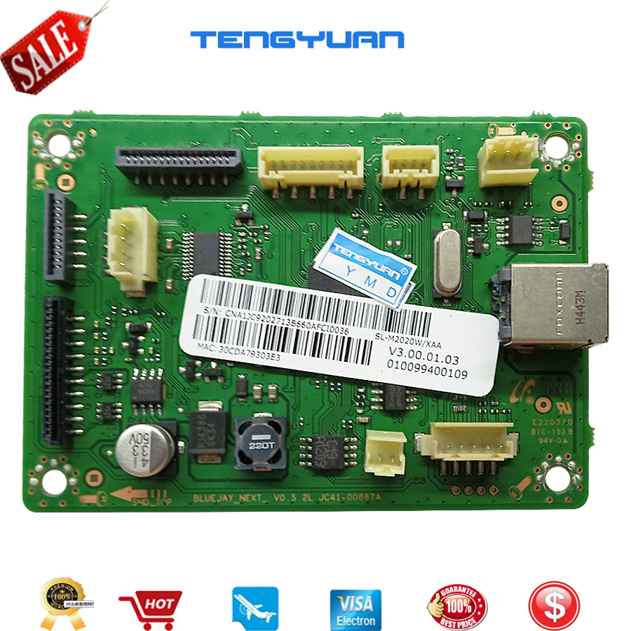 1pcs X Logic Main Board Use For Samsung <font><b>SL</b></font>-M2020 <font><b>SL</b></font>-<font><b>M2020W</b></font> <font><b>SL</b></font> M2020 <font><b>M2020W</b></font> 2020 2020W Formatter Board in printer parts on sale image